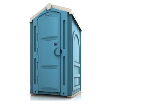 Фото 2. Туалетная кабина Стандарт синяя справа