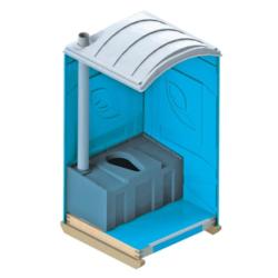 Фото 1. Синий биотуалет кабинка внутри