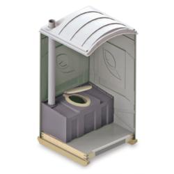 Фото 1. Мобильный уличный туалет внутри