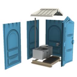 Фото 1. Мобильная туалетная кабина Стандарт в разборе