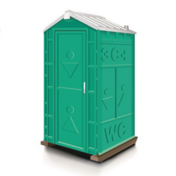 Фото 1. Туалетная кабина Универсал зеленая